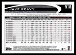 2012 Topps #518  Jake Peavy  Back Thumbnail