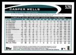 2012 Topps #526  Casper Wells  Back Thumbnail