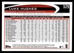 2012 Topps #529  Luke Hughes  Back Thumbnail