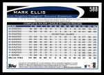 2012 Topps #588  Mark Ellis  Back Thumbnail