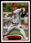 2012 Topps #595  David Carpenter  Front Thumbnail