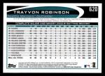 2012 Topps #620  Trayvon Robinson  Back Thumbnail