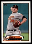 2012 Topps #625  Tommy Hunter  Front Thumbnail