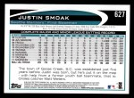2012 Topps #627  Justin Smoak  Back Thumbnail