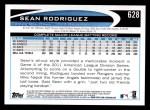 2012 Topps #628  Sean Rodriguez  Back Thumbnail