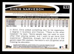 2012 Topps #633  Chris Narveson  Back Thumbnail
