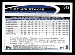 2012 Topps #642  Mike Moustakas  Back Thumbnail