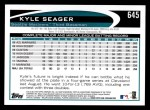 2012 Topps #645  Kyle Seager  Back Thumbnail