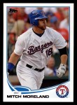 2013 Topps #18  Mitch Moreland   Front Thumbnail