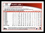 2013 Topps #33  Cliff Lee   Back Thumbnail