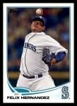 2013 Topps #34  Felix Hernandez   Front Thumbnail