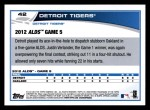 2013 Topps #42  Detroit Tigers   Back Thumbnail