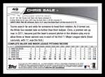 2013 Topps #49  Chris Sale   Back Thumbnail