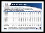 2013 Topps #56  Joe Blanton   Back Thumbnail