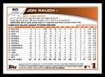 2013 Topps #60  Jon Rauch   Back Thumbnail