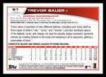 2013 Topps #61  Trevor Bauer   Back Thumbnail