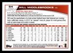 2013 Topps #64  Will Middlebrooks   Back Thumbnail