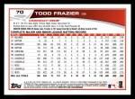2013 Topps #70  Todd Frazier   Back Thumbnail