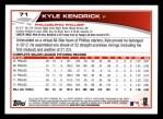 2013 Topps #71  Kyle Kendrick   Back Thumbnail