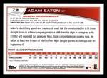 2013 Topps #79  Adam Eaton   Back Thumbnail