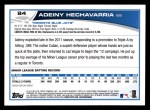 2013 Topps #84  Adeiny Hechavarria   Back Thumbnail