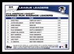 2013 Topps #94   -  Justin Verlander / David Price / Jered Weaver  AL Earned Run Average Leaders Back Thumbnail