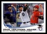 2013 Topps #94   -  Justin Verlander / David Price / Jered Weaver  AL Earned Run Average Leaders Front Thumbnail