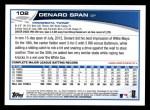 2013 Topps #102  Denard Span   Back Thumbnail