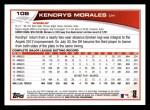 2013 Topps #108  Kendrys Morales   Back Thumbnail