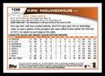 2013 Topps #109  Kirk Nieuwenhuis   Back Thumbnail