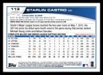 2013 Topps #113  Starlin Castro   Back Thumbnail