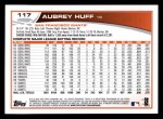 2013 Topps #117  Aubrey Huff   Back Thumbnail
