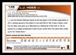 2013 Topps #148  L.J. Hoes   Back Thumbnail