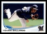 2013 Topps #149  Yovani Gallardo   Front Thumbnail