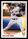 2013 Topps #156  Dillon Gee   Front Thumbnail