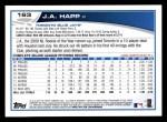 2013 Topps #163  J.A. Happ   Back Thumbnail