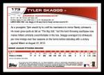 2013 Topps #173  Tyler Skaggs   Back Thumbnail