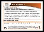 2013 Topps #175  A.J. Ramos   Back Thumbnail