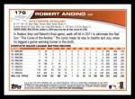 2013 Topps #176  Robert Andino   Back Thumbnail