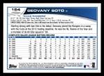 2013 Topps #184  Geovany Soto   Back Thumbnail