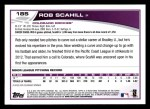2013 Topps #185  Rob Scahill   Back Thumbnail