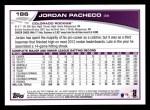 2013 Topps #186  Jordan Pacheco   Back Thumbnail