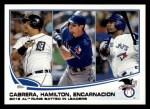 2013 Topps #194   -  Edwin Encarnacion / Miguel Cabrera / Josh Hamilton  AL Runs Batted In Leaders Front Thumbnail