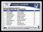 2013 Topps #194   -  Edwin Encarnacion / Miguel Cabrera / Josh Hamilton  AL Runs Batted In Leaders Back Thumbnail