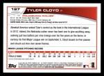 2013 Topps #197  Tyler Cloyd   Back Thumbnail