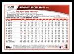 2013 Topps #206  Jimmy Rollins   Back Thumbnail