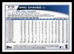 2013 Topps #212  Eric Chavez   Back Thumbnail