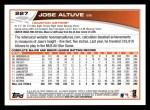 2013 Topps #227  Jose Altuve   Back Thumbnail