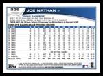 2013 Topps #236  Joe Nathan   Back Thumbnail