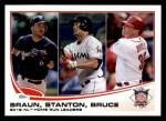 2013 Topps #246   -  Ryan Braun / Giancarlo Stanton / Jay Bruce  NL HR Leaders Front Thumbnail